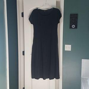 Long black maxi dress, tee shirt style